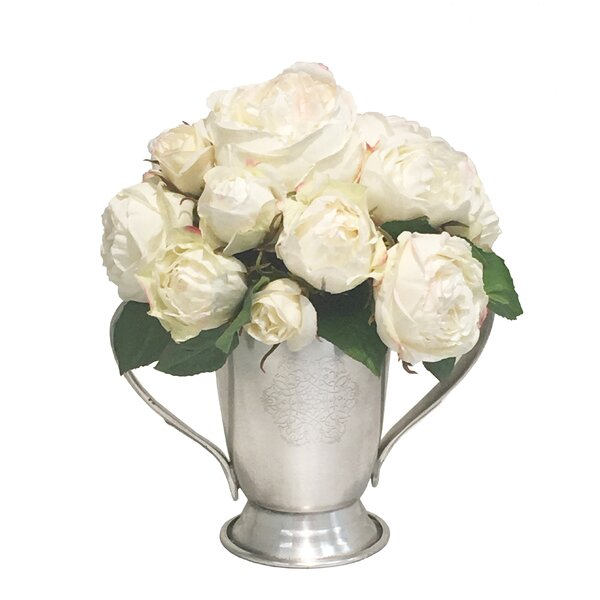 Mix Rose Centerpiece in Trophy Cup by Darby Home Co