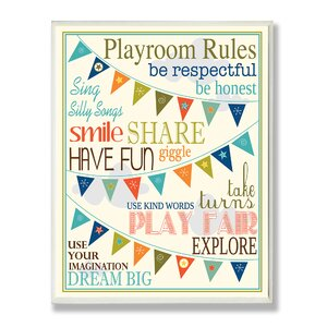 Playroom Pennants Textual Art by Stupell Industries
