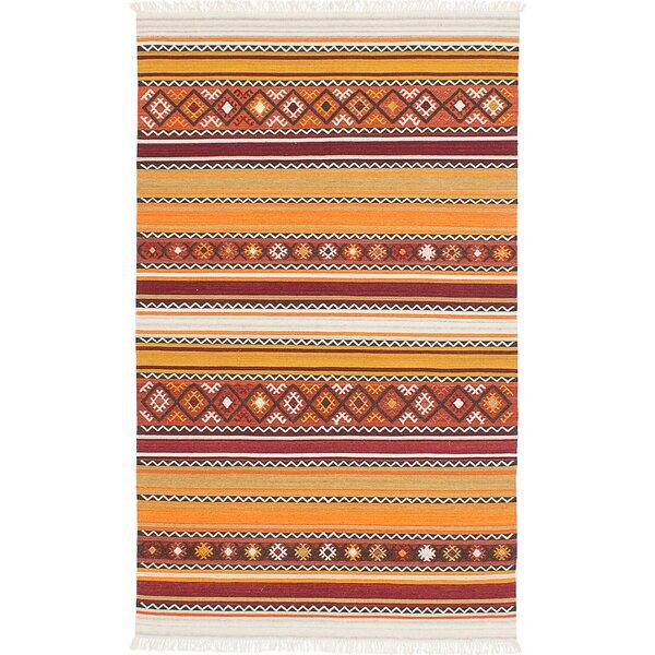 Adana Hand-Woven Wool Red/Orange Area Rug by ECARPETGALLERY