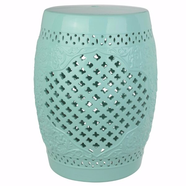 Gwen Perfectly Complimenting Cutout Motif Garden Stool by Ophelia & Co.