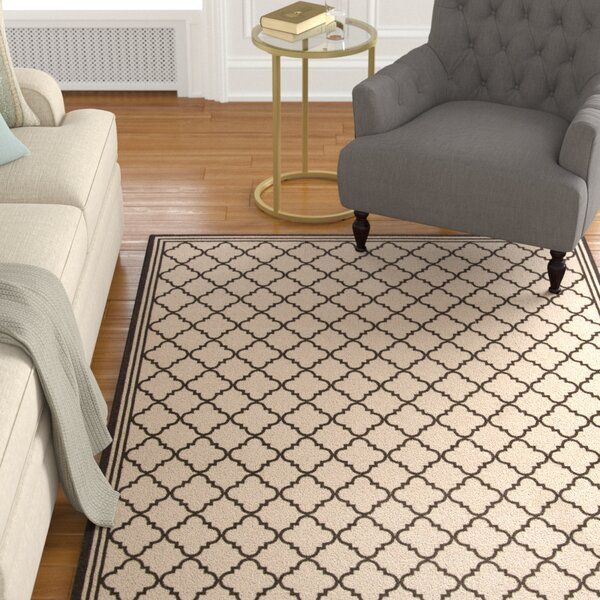 Burnell Contemporary Beige Area Rug by Darby Home Co