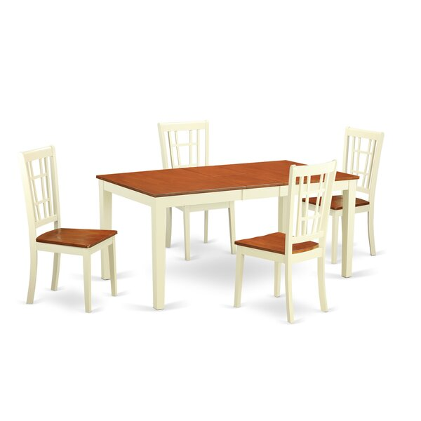 Cleobury 5 Piece Dining Set by August Grove
