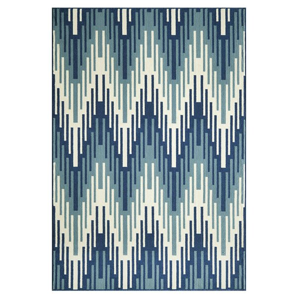 Wexler Hand-Woven Blue Indoor/Outdoor Area Rug by Wrought Studio