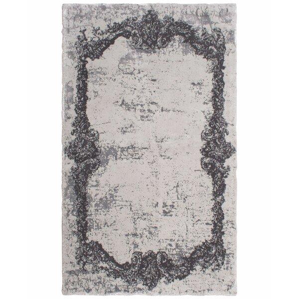Verbrande Artifaq Tulos Gray Area Rug by House of Hampton