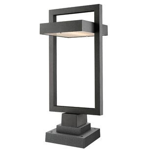 Great choice Fortune 1-Light LED Outdoor Pier Mount Light By Orren Ellis