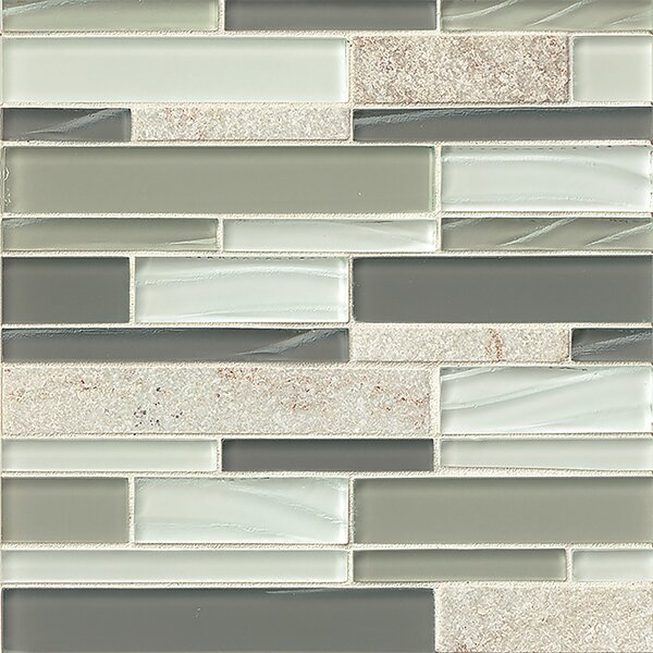 Queenstown 12 x 12 Stone Mosaic Linear Tile in Grey by Grayson Martin