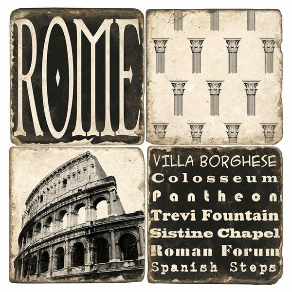 Roma Marble Coaster (Set of 4) by Studio Vertu