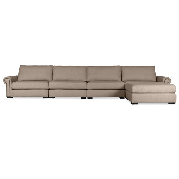 Willia Right Hand Facing Modular Sectional with Ottoman by Three Posts