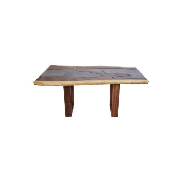 Genesis Live Edge Solid Wood Dining Table by Loon Peak