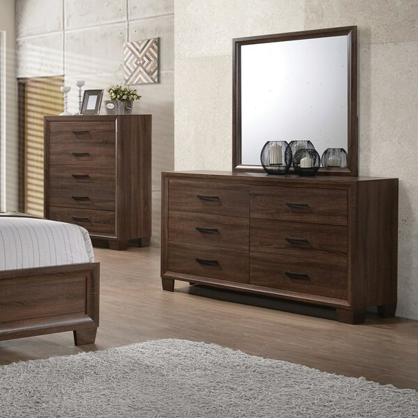 Casa 6 Drawer Double Dresser with Mirror by Three Posts