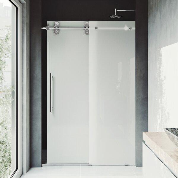 Elan 60 x 74 Single Sliding Frameless Shower Door by VIGO