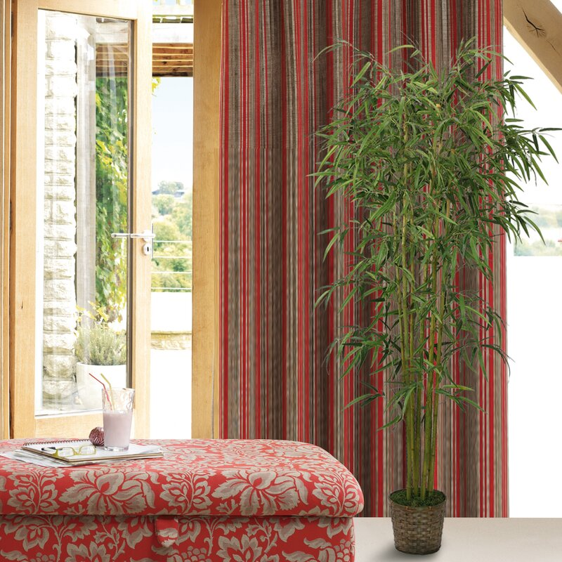 Artificial Trees Home Decor: Wildon Home ® Silk Bamboo Tree In Basket & Reviews