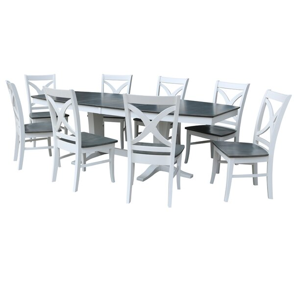 9 Piece Extendable Solid Wood Dining Set by Sedgewick Industries Sedgewick Industries