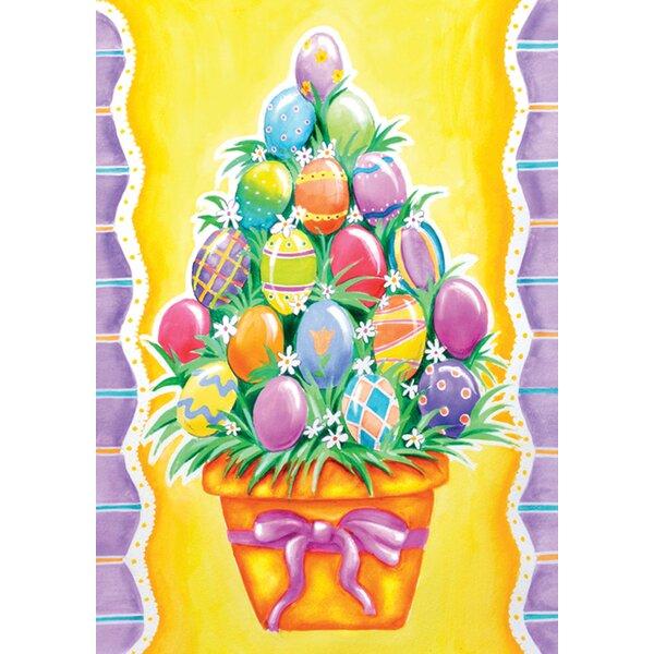 Egg Stack Garden flag by Toland Home Garden
