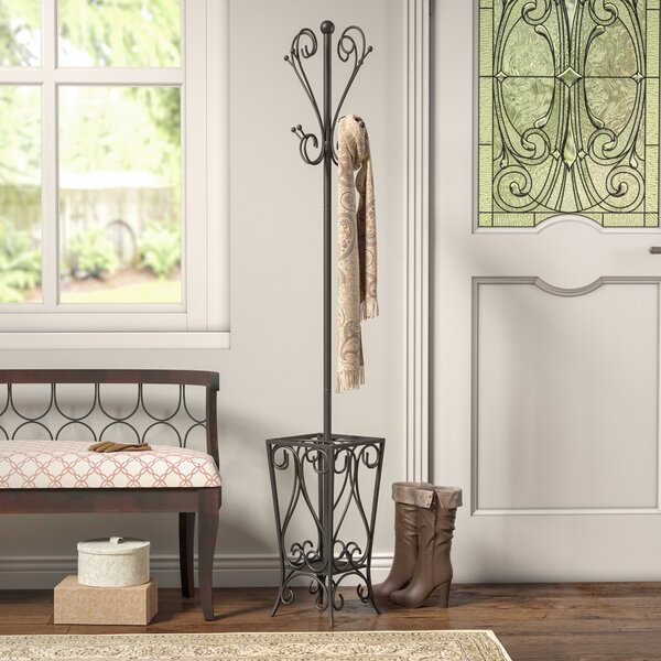 Duhon Metal Coat Rack with Umbrella Stand by Charl