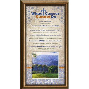 Gifts of All Occasions 'What Cancer Cannot Do' Framed Textual Art by Carpentree