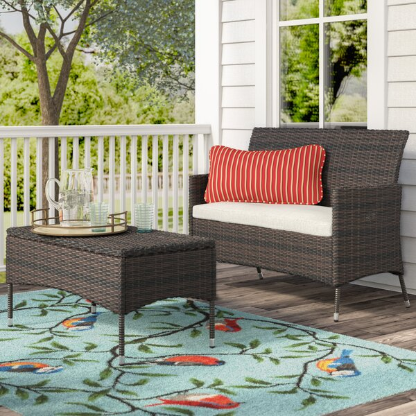 Louella 3 Piece Rattan Sofa Seating Group with Cushions by Andover Mills