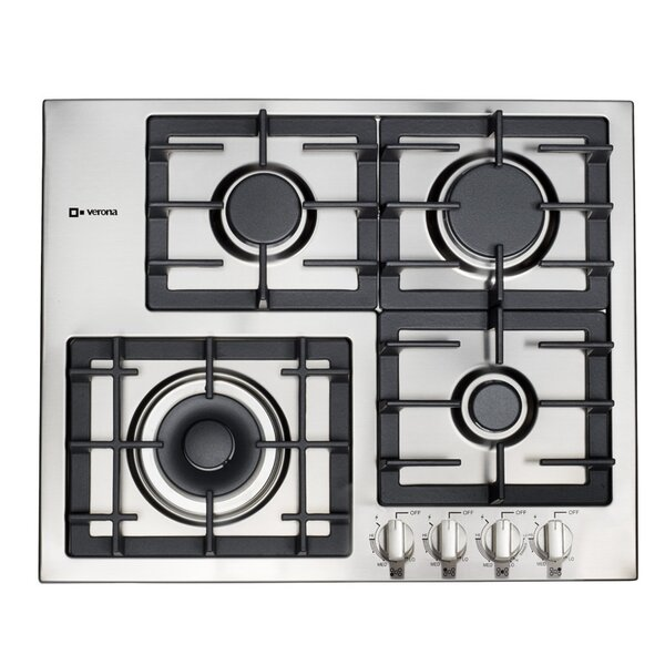 Designer Series 24 Gas Cooktop with 4 Burners by Verona