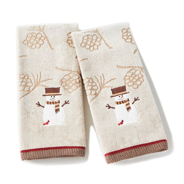 Bragg Snowman Cotton Hand Towel (Set of 2) by The Holiday Aisle