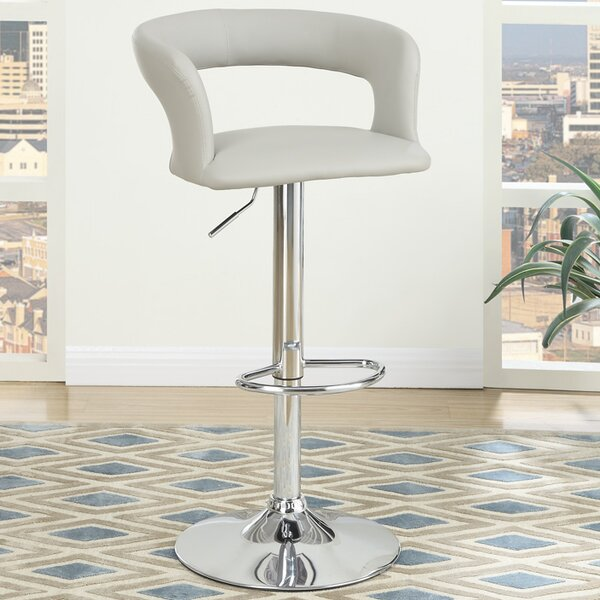 Adjustable Height Bar Stool (Set of 2) by Poundex