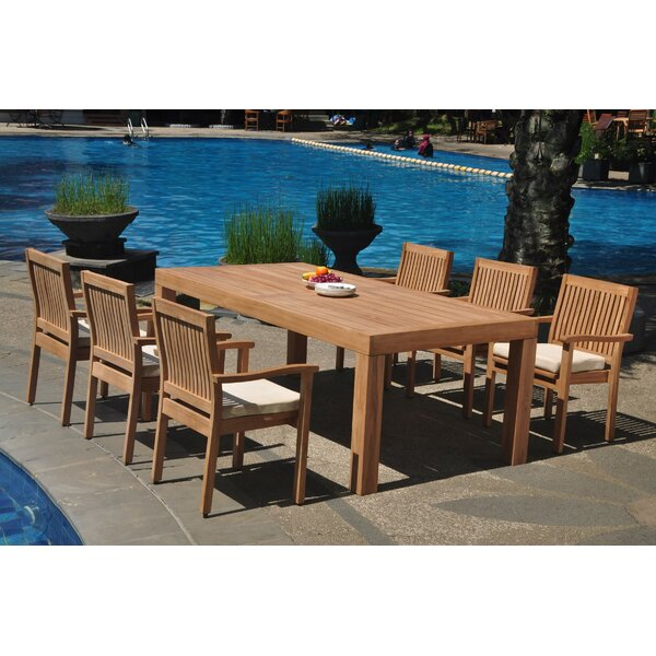 Quintara 7 Piece Teak Dining Set by Rosecliff Heights
