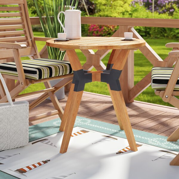 Moana Wooden Bistro Table by Beachcrest Home