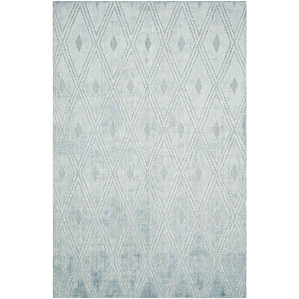 Maxim Hand-Woven Blue Area Rug by Brayden Studio