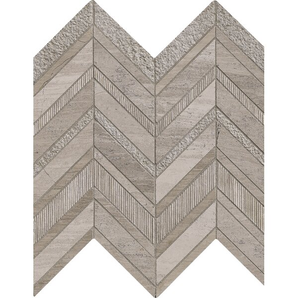 Chevron Marble Mosaic Tile in Gray by MSI