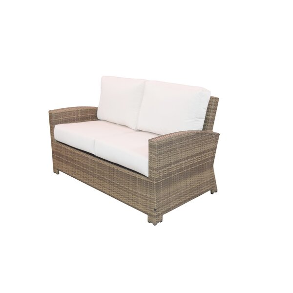 Norfolk Loveseat with Sunbrella Cushions by Rosecliff Heights