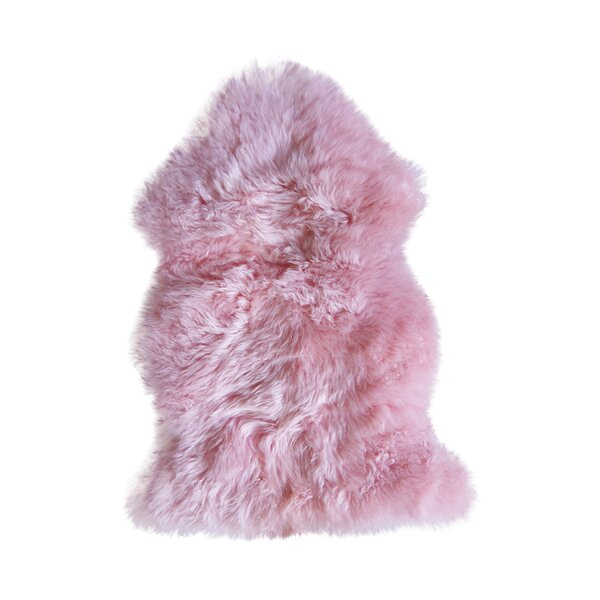 Hand-Tufted Pink Sheepskin Area Rug by Natural Rugs