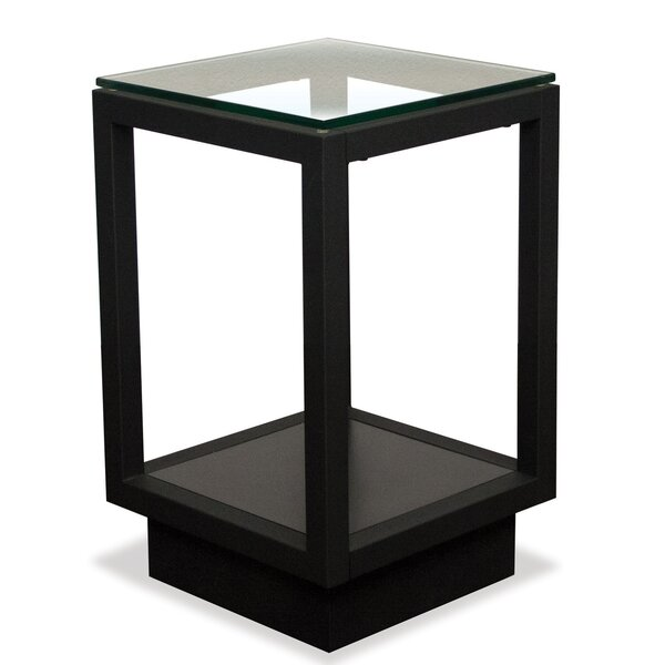 Wrights Glass Northampton End Table By Latitude Run