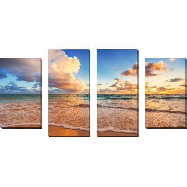 Beyond the Horizon 4 Piece Photographic Print on Wrapped Canvas Set by Picture Perfect International