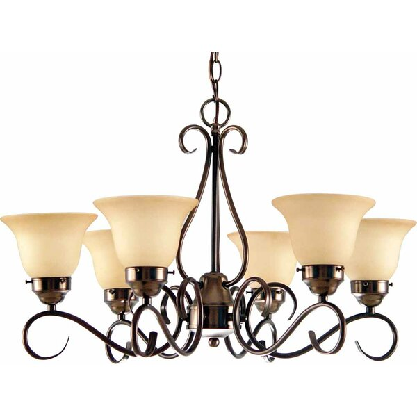 Pitkin 6 - Light Shaded Classic / Traditional Chandelier by Winston Porter Winston Porter