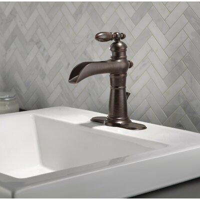 Delta Victorian Single Hole Bathroom Channel Spout Faucet with Metal ...