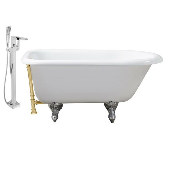 Cast Iron 48 x 30 Clawfoot Soaking Bathtub by Streamline Bath