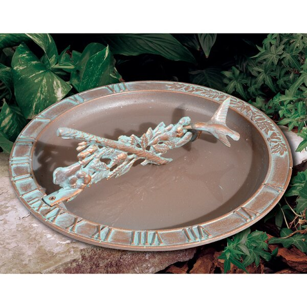 Hummingbird Sundial Birdbath by Whitehall Products