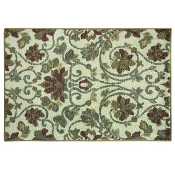 Elkton Beige/Blue Area Rug by Charlton Home