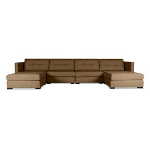 Timpson Buttoned U-Shape Double Chase Modular Sectional