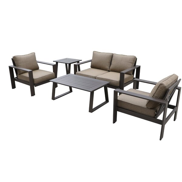 Colorado 5 Piece Sofa Seating Group with Cushions