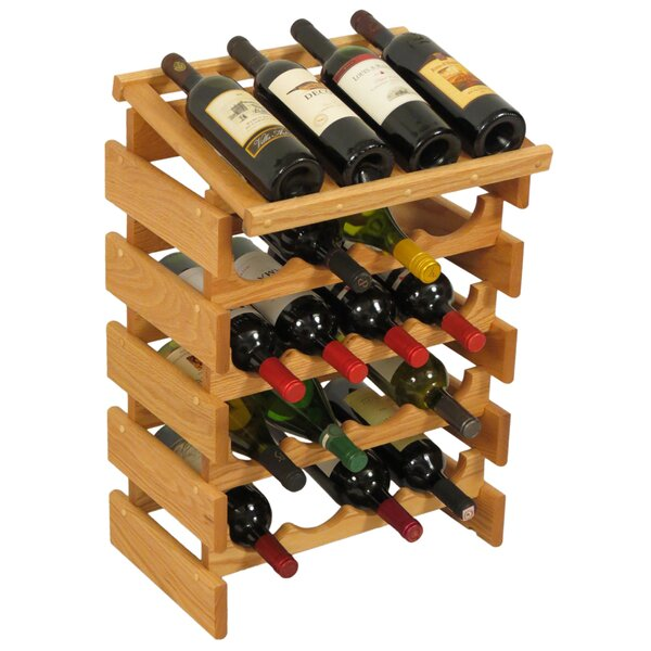 Dakota 20 Bottle Floor Wine Rack by Wooden Mallet