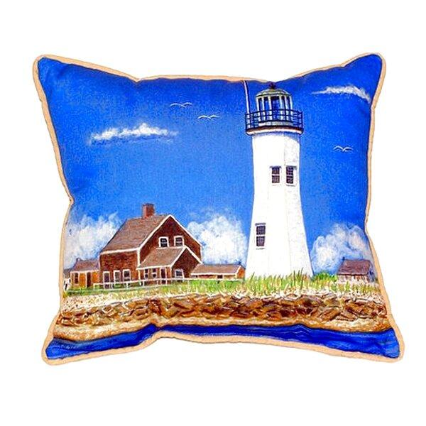 Scituate MA Lighthouse Indoor/Outdoor Lumbar Pillow