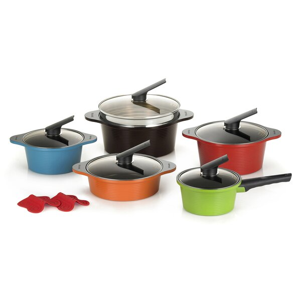 13 Piece Pot Set with Lids by Happycall