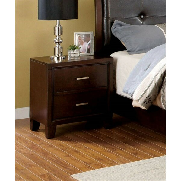 Remus Holderness 2 Drawer Nightstand by Latitude Run
