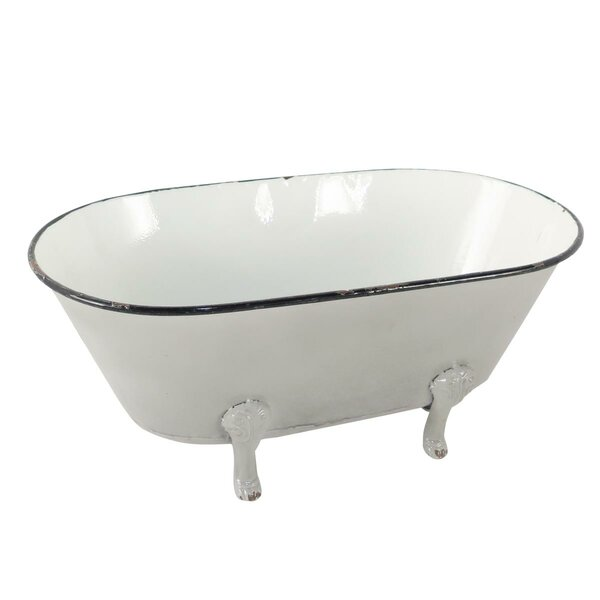 Enamel Bathtub Planter Box by Foreside Home & Garden