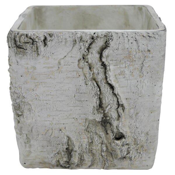 Birch Look Ceramic Planter Box by Three Hands Co.