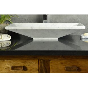 Best Price Bliss Stone Rectangular Vessel Bathroom Sink By Y Decor