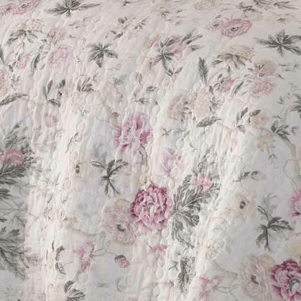 Breezy Reversible Floral 100% Cotton 2 Piece Quilt Set