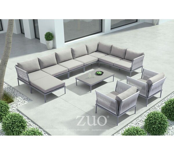 Alfaro Sectional Seating Group with Cushions by Brayden Studio