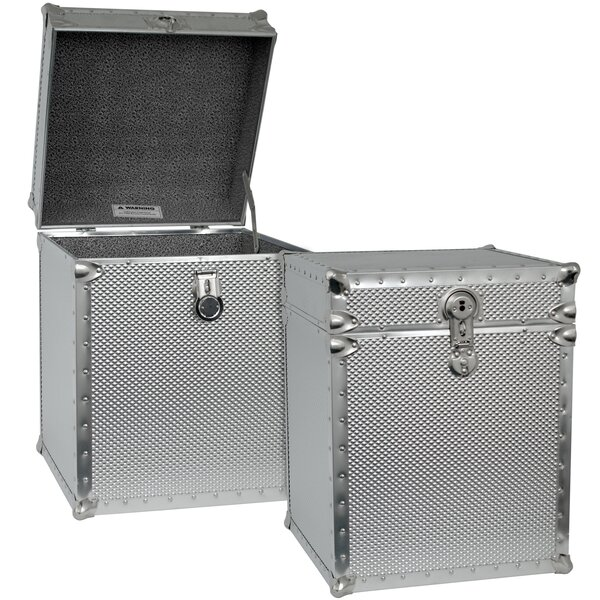 Embossed Steel Tall Cube Storage Trunk by Seward T