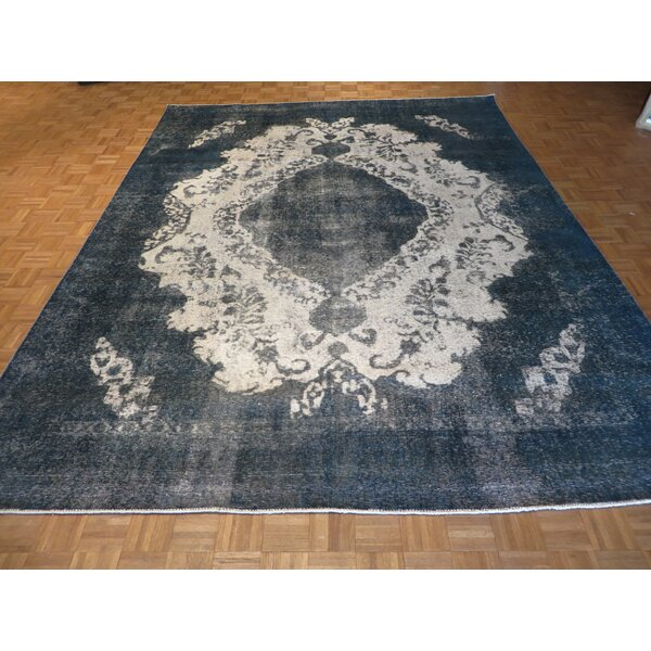 One-of-a-Kind Padro Hand-Knotted Sky Blue Area Rug by Bloomsbury Market